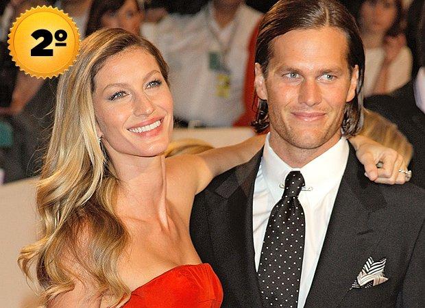 Gisele Bündchen e Tom Brady - casais mais ricos