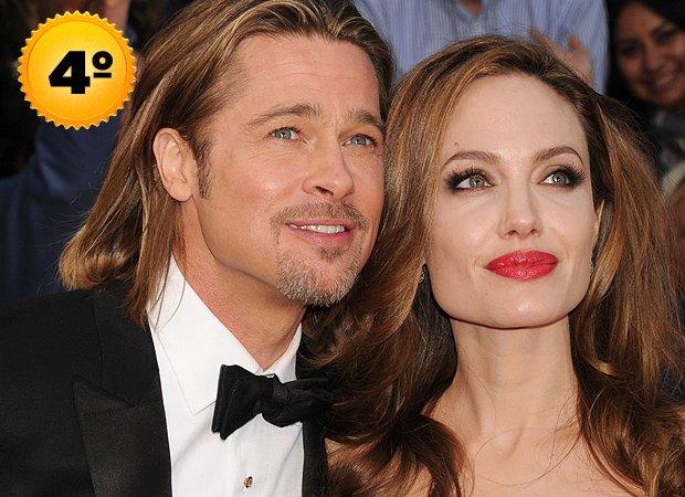 Brad Pitt e Angelina Jolie - casais mais ricos