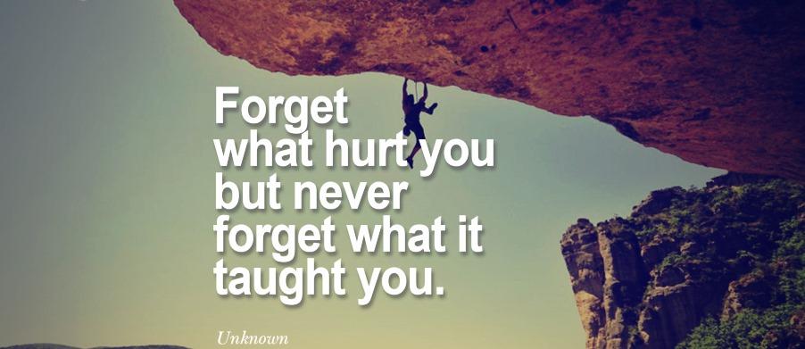 esquecer o passado de vez